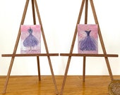 Miniature  Mannequin paintings lilac and lavender Dolls House