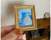 Dollhouse Cinderella miniature Christmas painting
