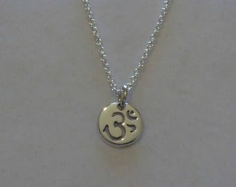 Handmade Silver Om Pendant Necklace