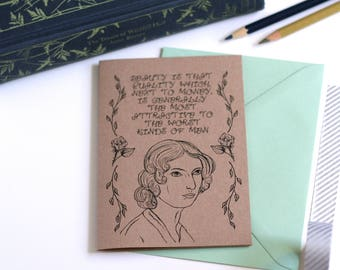 Anne Bronte Card The Tenant Of Wildfell Hall Card Book Card Greetings Card Book Lover