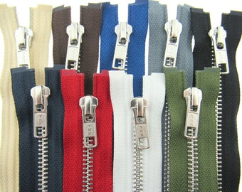 """OPEN END ZIP ANY SIZE FROM 10/"""" TO 24/"""" IN MOST COLOURS"""