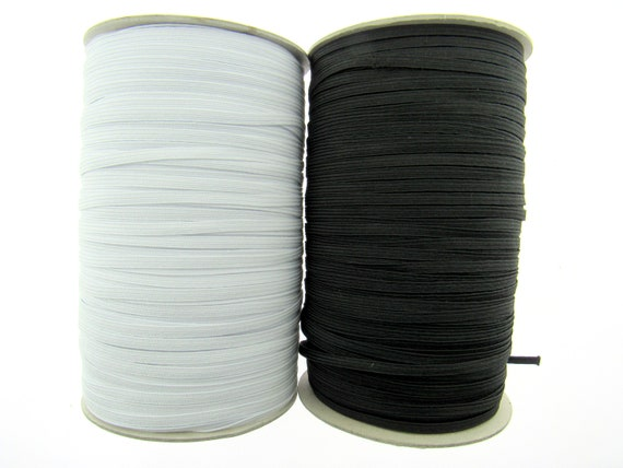 New Various size 10mm,15mm /& 20mm Flat Elastic Woven Black /& White Sewing Kit UK