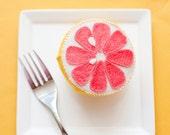 Felt Grapefruit Breakfast - Felt Food - Wool