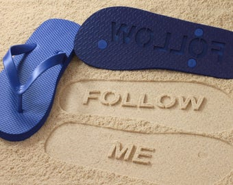 e9cec2f5b Follow Me Sand Imprint Flip Flops  Click or Scroll through pics for size  chart