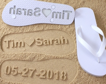 How to make sand imprint flip flops