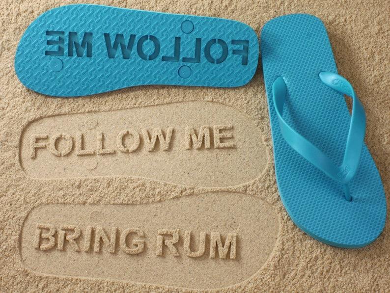 ea95c8e7da92e Custom Follow Me Bring Rum Flip Flops Personalized Booze