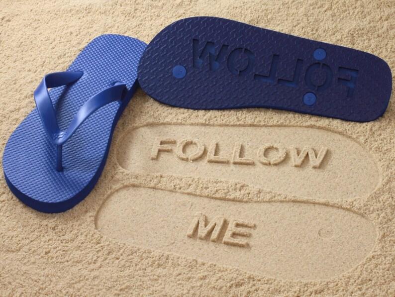 95c01cb7dfb89a Follow Me Sand Imprint Flip Flops Click or Scroll through