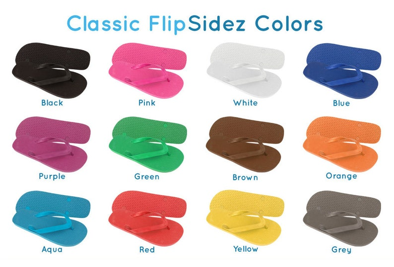 a0ce164a1a2a47 Custom Wedding Party Flip Flops Wholesale 10 pair listing