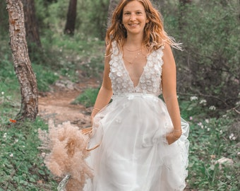 Bohemian Wedding Dress, Summer Wedding