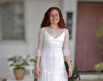 Long Sleeve Wedding Dress, Bohemian Wedding Dress