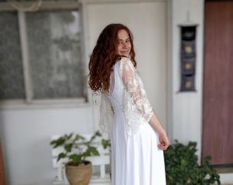 Bohemian Wedding Dress, Romantic wedding dress