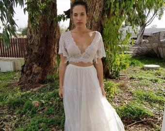 Beach Wedding Dress, Bohemian Wedding Dress