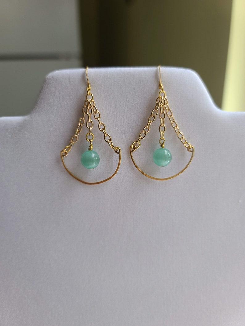 Sea Foam Chain Earrings