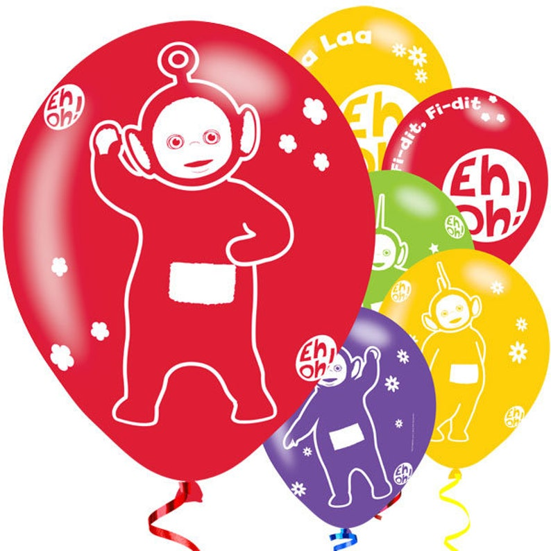 "6 x 11/"" Teletubbies Printed Birthday Party Decoration Assorted Latex Balloons"