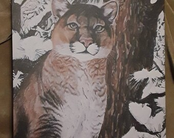 13df69e385603 Cougar painting | Etsy