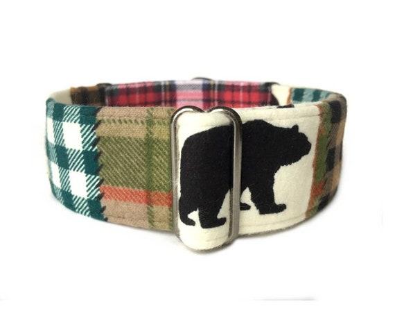 Madras Plaid Custom Made Martingale Dog Collar 2 Inches Wide