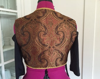 The perfect turkish vest shades of brown- belly dance- renaissance