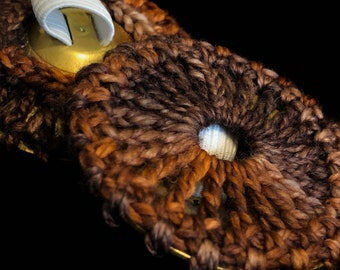 Shades of brown Belly dance zill covers, zill muffler, ziffler, finger cymbal cover- NORMAL SIZE