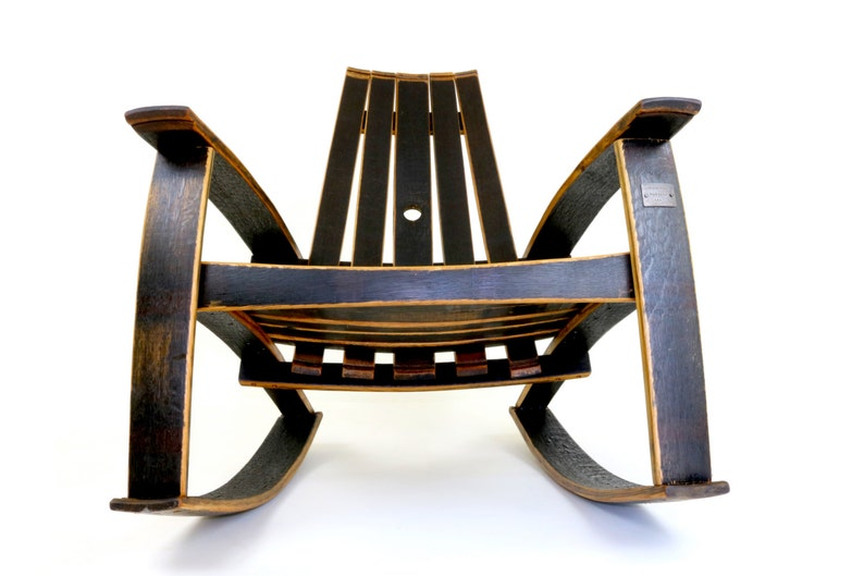 Whiskey Barrel Rocking Chair Recurved Bourbon Barrel Rocker