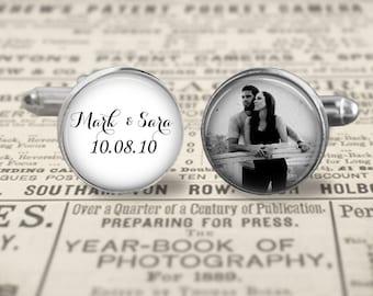 Custom Groom Cufflinks,Custom Photo Accessories, Wedding Cufflinks, Father Of The Bride