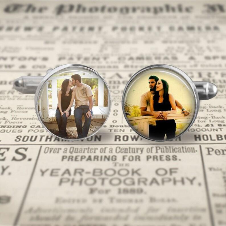Custom Photo Cufflinks Mens Accessories Wedding Cufflinks image 0