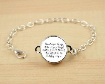 Custom Quote Bracelet, Personalized Jewelry, Poem or Song Lyrics