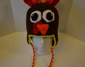 Adult Turkey Hat with Ear Flaps
