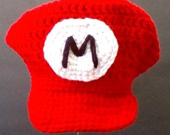 Nintendo's Super Mario Inspired Baby Hat! - Photo Prop - Sizes to 12 mos.