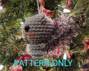 Mini Squirrel Doll - Ornament - Amigurumi - PATTERN ONLY
