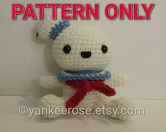 Marshmallow Man Amigurmi Doll - PATTERN ONLY