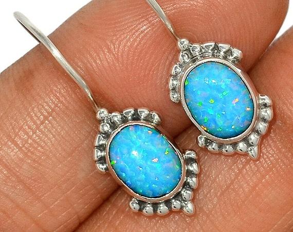 Fire Opal 925 Sterling Silver Earrings Jewelry