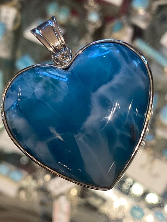 Larimar. The Turquoise Stones of the Caribbean. Larimar Pendant