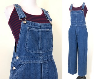 11d70e23cab5 Vintage 90s Overalls girls size large L 14 or womens XS extra small blue  jean pants Osh Kosh grunge retro fashion raver girl rave