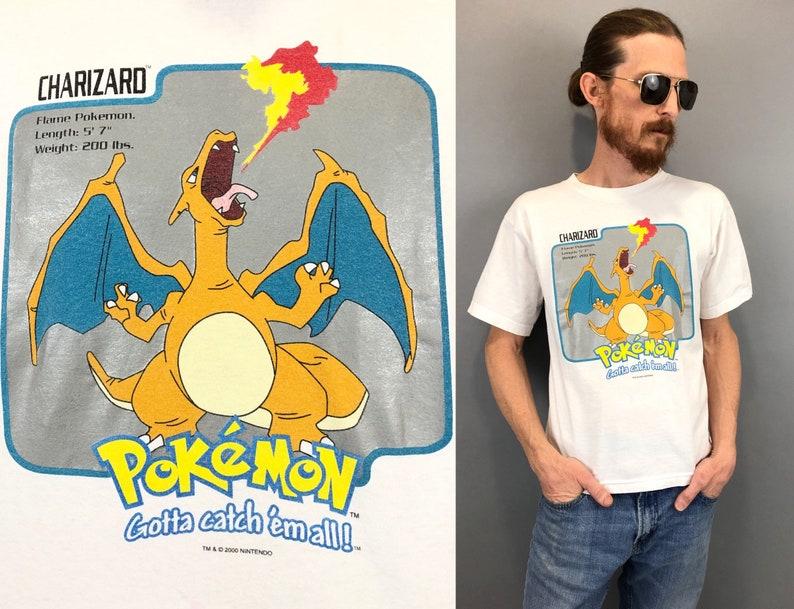7e20e17b3 Vintage old school Pokemon T Shirt nintendo Charizard Top boys | Etsy