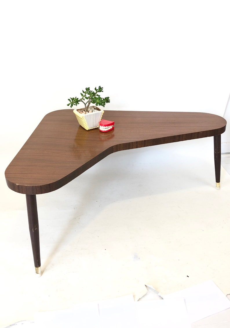Admirable Vintage 60S Boomerang Coffee Table Mid Century Modern Walnut Brown Laminate Eames Era Living Room Furniture Retro Home Decor Atomic Mod Evergreenethics Interior Chair Design Evergreenethicsorg