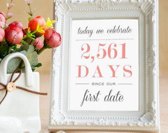 Length of Dating Sign for Wedding