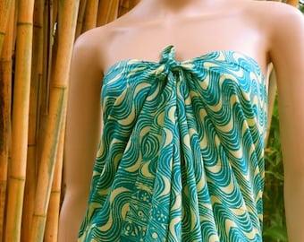 Green Sarong, Wrap, Pareo