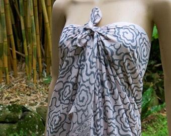 Hand Printed Sarong, Cover up, Pareo