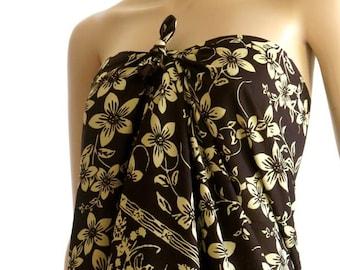Brown Flower Sarong, Pareo