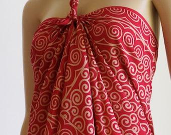 Red Wrap, Sarong, Pareo