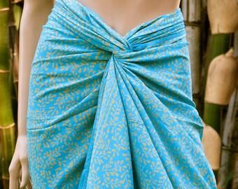 Batik Sarong, Swimsuit cover up, Beach Sarong, Pareo