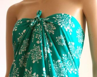 Green Cover up, Sarong, Wrap, Pareo
