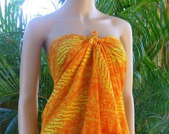Orange Sarong, Pareo, Wrap