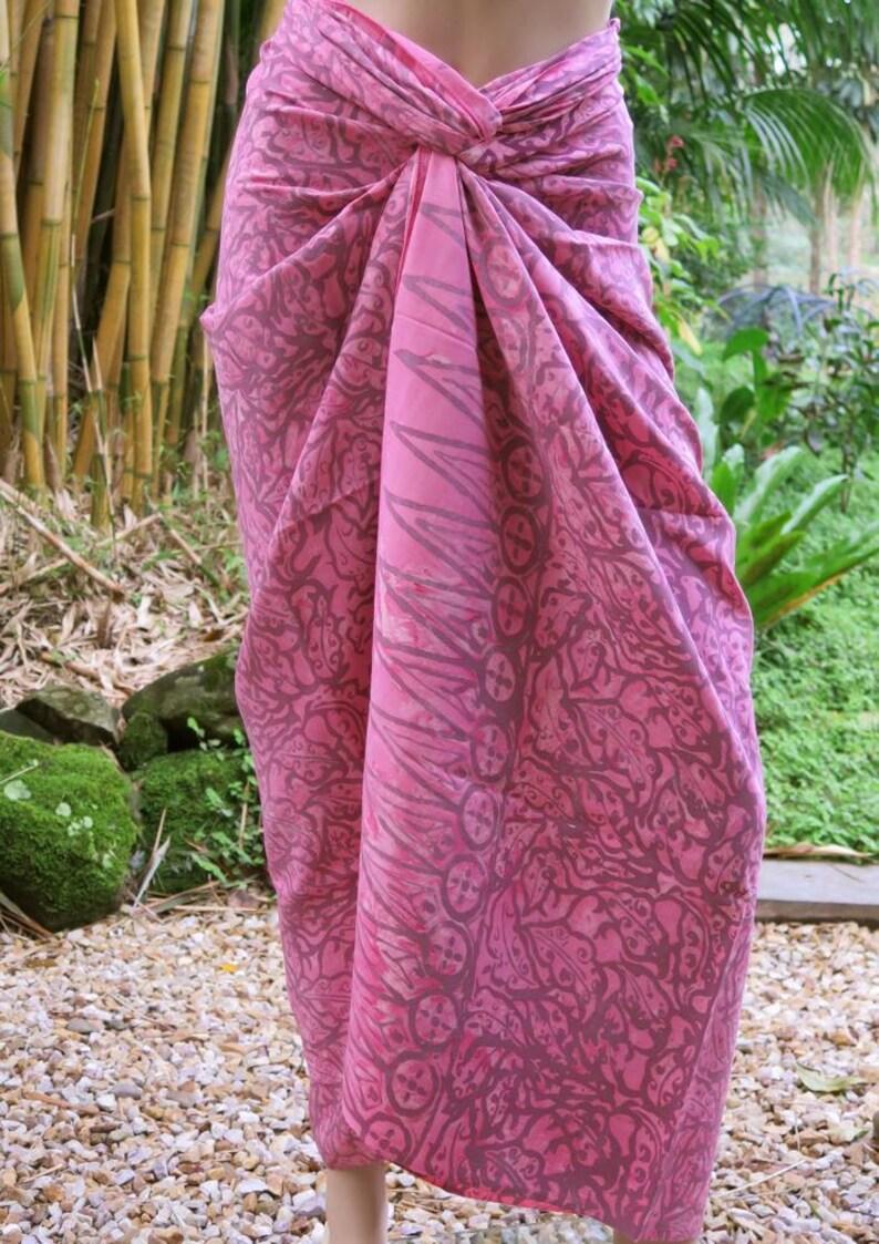 Wrap Beach Sarong Pink cover up Pareo