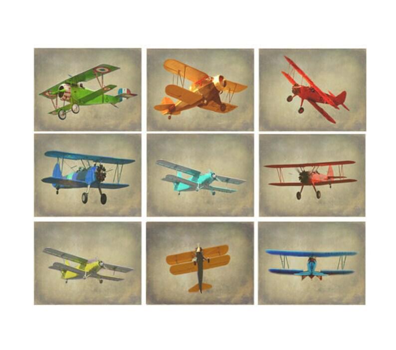 Vintage Airplane Photography Antique Plane Art Airplane image 0