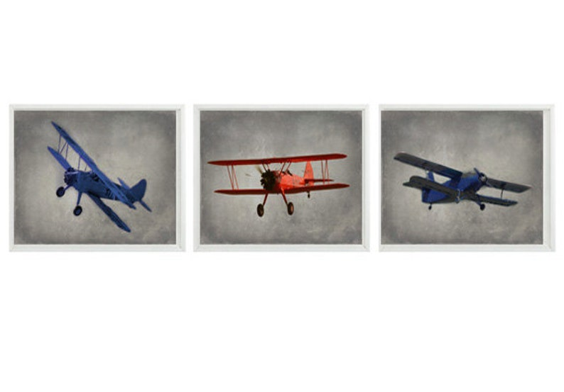 Vintage Airplane Art Plane Photography Airplane Nursery image 0