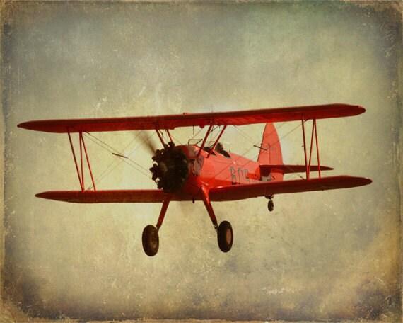 Vintage Transport Aeroplane Biplane Pilot Portugal 12X16 Inch Framed Art Print