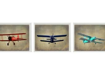 Airplane Photo, Plane Nursery Print, Vintage Airplane, Boy Room Decor, Airplane Nursery, Baby Boy Nursery, Antique Plane, Airplane Decor