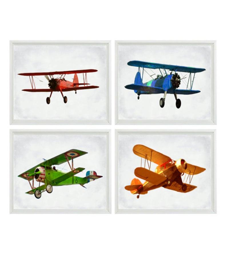 Airplane Photography Vintage Plane Photo Biplane Print image 0