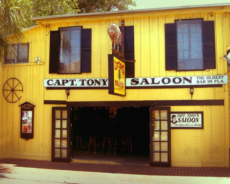 Captain Tonys Saloon Key West Florida  Art Print Bar Art image 0